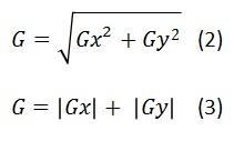 Gradient magnitude equation